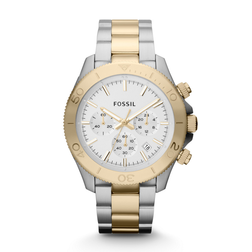 Fossil Watches For Women Two Tone Steel Watch Two-tone