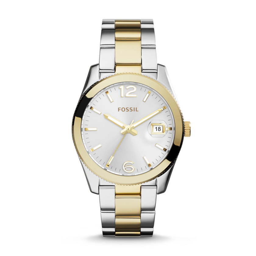 Fossil Watches For Women Two Tone Two-tone Three Hand Watch