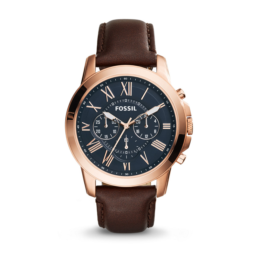fossil grant chronograph brown leather fs5068 fossil 174