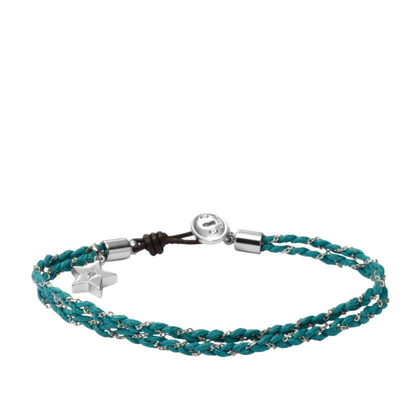 fossil friendship bracelet blue fossil 174 jewelry