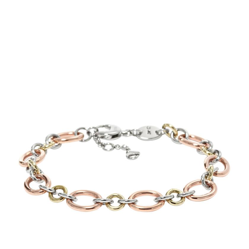 fossil dainty charm starter bracelet multi fossil 174 jewelry