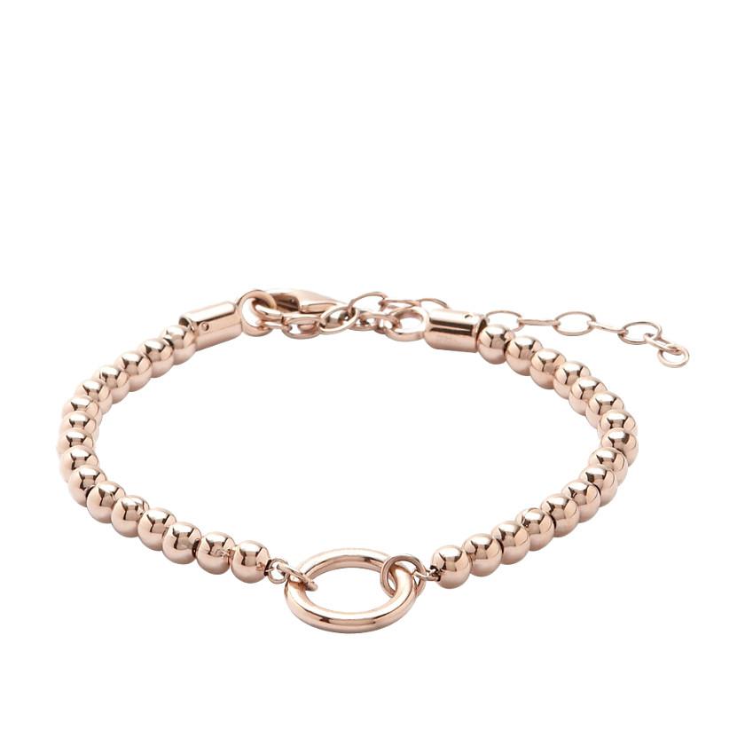 fossil beaded circle charm starter bracelet